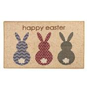 Brumlow Rabbit Easter Printed Rectangular Rugs