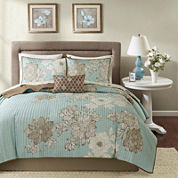 Madison Park Brady Coverlet Complete Set with Sheets