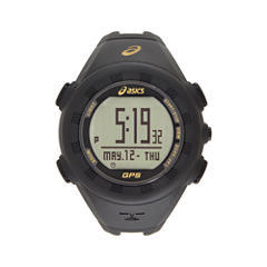 Asics Ag01 Gps Training Unisex Black Strap Watch-Cqag0105y