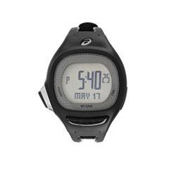 Asics Ap02 Runner Unisex Black Strap Watch-Cqap0201y