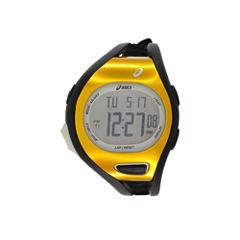 Asics Black/Orange Ar07 Runner Unisex Multicolor Strap Watch-Cqar0705y