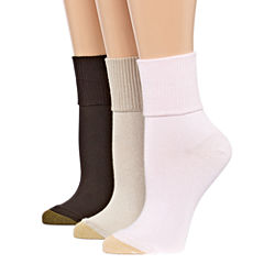Gold Toe 3-pc. Turncuff Socks