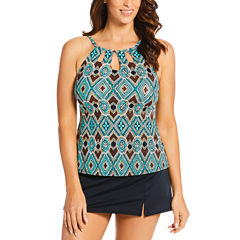 St. John's Bay High Neck with Cut Outs Blake Swimsuit Top or Swim Skirt