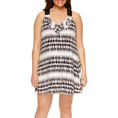 Porto Cruz Tie Dye Jersey Swimsuit Cover-Up Dress-Plus