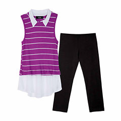 by&by girl Easy Care Round Neck Sleeveless Blouse - Big Kid Girls