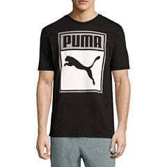 Puma Box Graphic Tee Short Sleeve Crew Neck T-Shirt