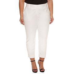 Worthington Curvy Slim Fit Ankle Pants-Plus