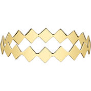 DOWNTOWN BY LANA Gold-Tone Diamond-Shaped Bangle