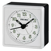 Seiko® Bedside Alarm With Beep Alarm White ClockQhe083wlh