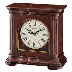 Seiko® Brown Wooden Musical Desk/table Clock Qxw243blh