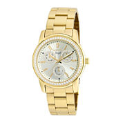 Invicta® Womens Angel Stainless Steel Gold Tone Bracelet Watch 18990
