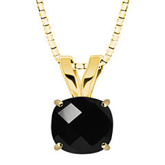 Genuine Black Onyx 10K Yellow Gold Pendant