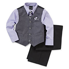 4-pc. Dress Shirt, Tie, Vest and Pants Set - Boys 4-10