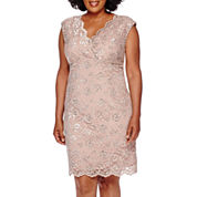 Blu Sage Sleeveless Lace Dress - Plus