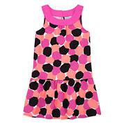 Okie Dokie® Sleeveless Printed Yoke Dress - Toddler Girls 2t-5t