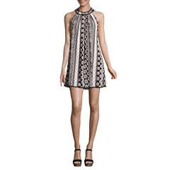 Trixxi Sleeveless A-Line Dress-Juniors