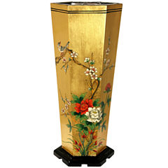 Oriental Furniture Gold Leaf Umbrella Stand