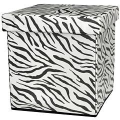 Oriental Furniture Zebra Stripe Footstool