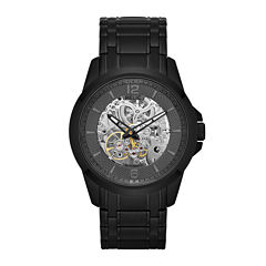 Relic® Mens Black Ion Stainless Steel Automatic Watch ZR12110