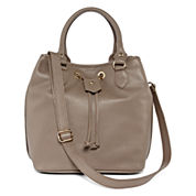 Liz Claiborne Angelina Leather Leather Bucket Bag