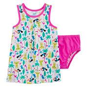 Okie Dokie® Sleeveless Yoke Dress - Baby Girls newborn-24m