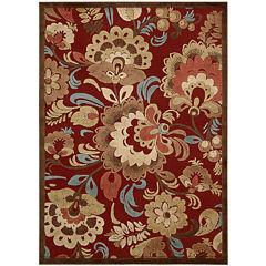 Nourison® Hastings High-Low Carved Floral Rectangular Rug