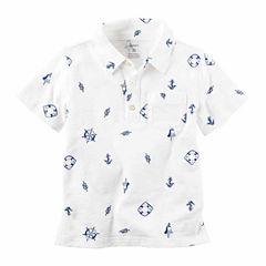 Carter's Pb Polo Henley Short Sleeve Henley Shirt - Preschool Boys