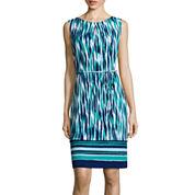 Liz Claiborne® Sleeveless Belted Shift Dress