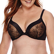 Ambrielle® Full-Figure Embroidered Plunge Underwire Bra - 125582
