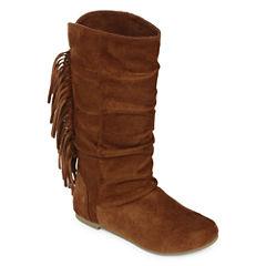 Arizona Rae Girls Fringe Boots - Little Kids