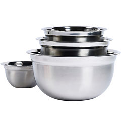 Basic Essentials® 4-pc. Stainless Steel Mixing Bowl Set