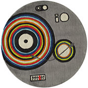 Momeni Lil Mo Stereo Hand Tufted Round Rugs