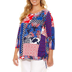 Lark Lane Ll 0617 Must Haves Tunic Top Plus