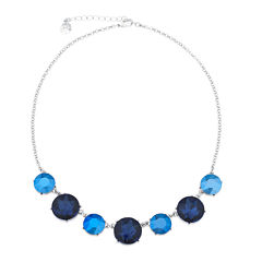 Monet® Blue and Silver-Tone Collar Necklace