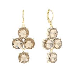 Monet® Brown Glass Gold-Tone Chandelier Earrings