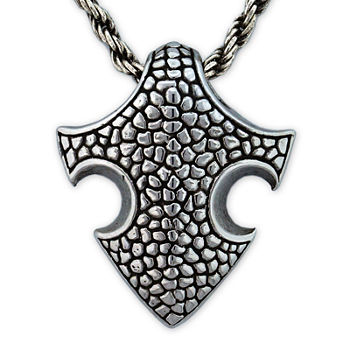 Mens Stainless Steel Medieval Pendant Necklace