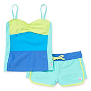 Free Country® Color Block Tankini - Girls 7-16