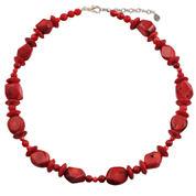 Bijoux Bar Red Bronze Beaded Necklace