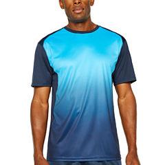 Spalding Ombre Print Short Sleeve Crew Neck T-Shirt