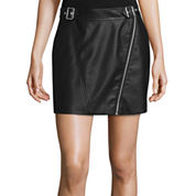 Decree® Buckle-Front Pleather Skirt