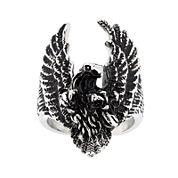 Mens Stainless Steel Eagle Ring
