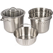 Calphalon® Contemporary Stainless Steel 8-qt. Covered Pot with Insert & Steamer