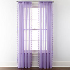 Home Expressions™ Meadow Swiss Dot Sheer Rod-Pocket Curtain Panels