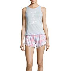 Wallflower Shorts Pajama Set-Juniors