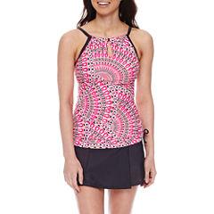 Free Country® Medallion Halter Swimsuit Top or Swim Skirt