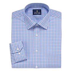 Stafford Travel Easy-Care Broadcloth Long Sleeve Dress Shirt