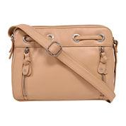 Great American Leatherworks® Leather Grommet Crossbody Bag
