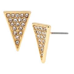 Bleu™ Pavé Triangle Stud Earrings