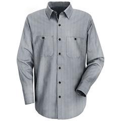 Red Kap® SP10 Micro-Check Uniform Shirt–Big & Tall