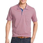 IZOD® Short-Sleeve Striped Pocket Polo Shirt